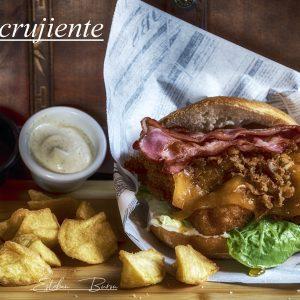 Hamburguesa de pollo crujiente