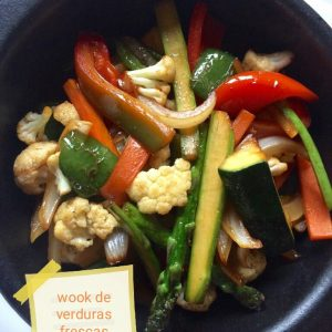 Wok of vegetables